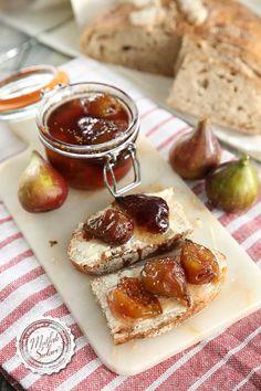 Plum and fig jam Jam Recipes, Dessert Recipes, Cooking Recipes, Drink Recipes, Vegan Recipes, Fig Jam, Easy Eat, Breakfast Toast, Vegetable Drinks