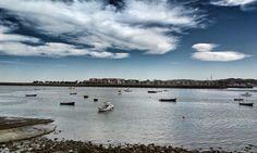 Vista de Hendaya desde el puerto de Hondarribia