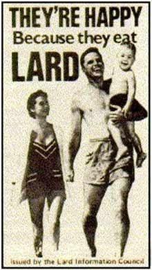 They're happy because they eat LARD. #humor #paleo #takingitback
