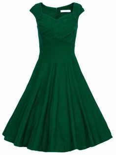 Raw Waterfall Underskirt Heart Shape Collar Sleeveless Flare Dress -SheIn(Sheinside)