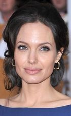 angelina jolie curly updo hairstyle for square face