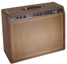 1962 Fender Vibrolux Brown Guitar Amplifier, Serial # 0 Lot 85165