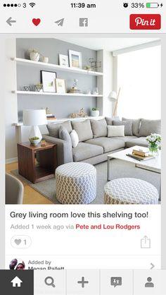 Full length wall shelf