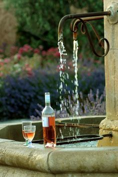 Rosé wine, in Provence. My idea of refreshing!