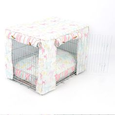 Dog Crate Cover and Cushion Set in Ashley by LordsandLabradors