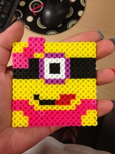 Girly Minion perler beads (click the pic to see my inspiraiton) by Shannon Burns