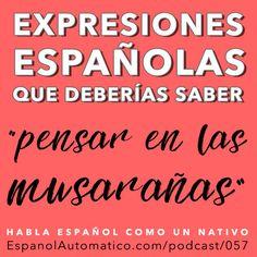 057 - Expresión española coloquial: Pensar en las musarañas