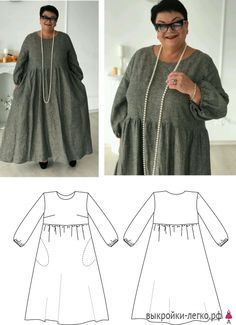 Sewing Patterns Winter Fashion 28 Ideas For 2019 Tunic Sewing Patterns, Tunic Pattern, Dress Patterns, Sewing Clothes, Diy Clothes, Clothes For Women, Make Your Own Clothes, Diy Dress, Linen Dresses