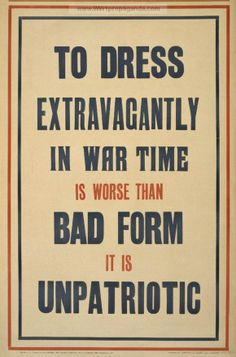 Modest Attire Preferred - WWI British propaganda poster