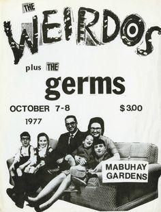 The Weirdos-The Germs @ Mabuhay Gardens October 1977 « Hardcore Show Flyers