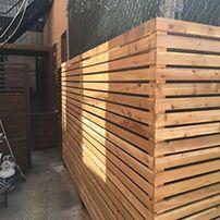 Clôture de bois en chêne   Oak wood fence  Clôture Boucher, 450-516-0264