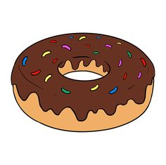 Learn to draw a tasty donut. This step-by-step tutorial makes it easy. Kids and beginners alike can now draw a great looking dougnut. Donut Drawing, Donuts, Donut Logo, Tumblr Stickers, Do You Like It, Learn To Draw, Easy Drawings, Still Life, Symbols