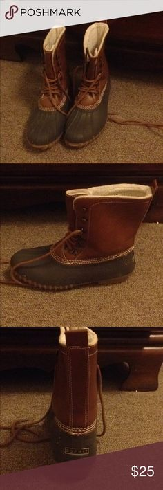 Women's bean boots Light brown women's duck boots, barely worn Esprit Shoes Lace Up Boots