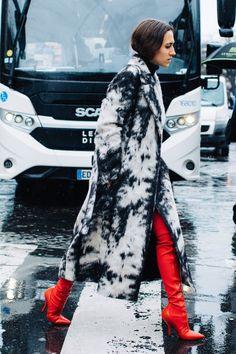 Sandra Semburg on the st shows at Paris Fashion Week Fall/Winter 2017-2018