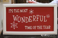"""DIY """"It's a Wonderful Life"""" Holiday Sign {Pottery Barn Inspired}"""