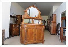 credenza a specchio : Antica servante con specchio Luigi Filippo originale Piemontese 1850 ...