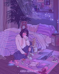 Uploaded by Zahraa A. Find images and videos about girl, art and anime on We Heart It - the app to get lost in what you love. Drawings, Animation Art, Cute Art, Illustration Art, Art, Art Wallpaper, Aesthetic Anime, Cartoon Art, Aesthetic Art