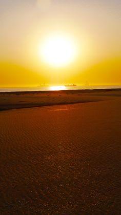 #namibia #sunset #travel #coast