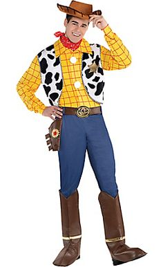 Adult Woody Costume Deluxe - Toy Story   Party City 23f9a013dae