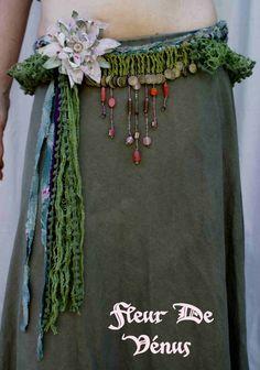 crocheted belt tribal gypsy unique. by FleurDeVenus on Etsy, €125.00