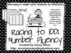 Mrs. Miner's Kindergarten Monkey Business: Getting Kinders to Write Numbers to 100 Fluently and Correctly (freebie included)