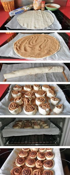 Cómo hacer rollitos de canela. My Favorite Food, Favorite Recipes, Comida Diy, Puff Pastry Recipes, Pan Dulce, Xmas Food, Dessert Recipes, Desserts, Sweet Bread