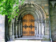 I'd have an awesome hobbit-ish door leading to something small like a tool shed... just because.