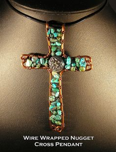 Cross in turquoise.