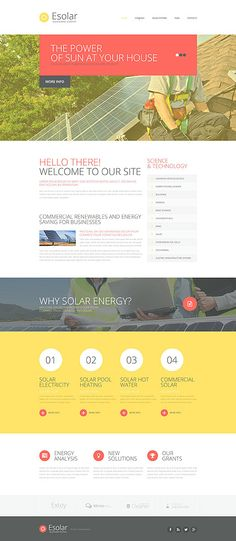 Solar Energy Company #website #template. #themes #business #responsive