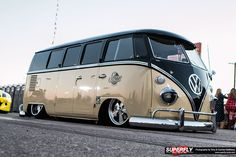 VW Bus # VW Van #Slammed #Clean #cool #lowered ♠... X Bros Apparel Vintage Motor T-shirts, Volkswagen Beetle & Bus T-shirts, Great price… ♠
