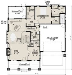 Craftsman Bungalow - Main Floor Plan