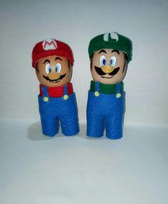 mario and Luigi - easter egg -eggshell creations