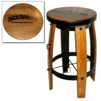 Barrel Wood Bar Stool For Room