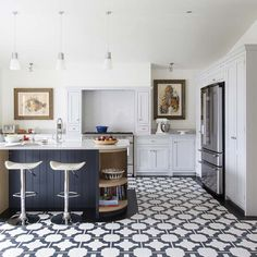Parquet Charcoal Vinyl Tile (Wholesale) by  Designer: Neisha Crosland. Wonderfully durable and easy to clean, this classic Celtic-inspired floor is a stylish addition to both traditional and modern spaces.