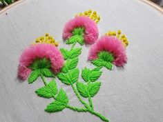 Amazing Hand Embroidery: Do you want to learn flower ideas with tricks and tips to add your hand embroidery projects? Flower Designs are a classic motif in embroidery, but they're also a bit of a trend. Hand Embroidery Videos, Hand Embroidery Tutorial, Paper Embroidery, Learn Embroidery, Hand Embroidery Stitches, Silk Ribbon Embroidery, Embroidery Techniques, Embroidery Kits, Flower Embroidery Designs