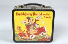 """Huckleberry Hound Lunch Box: """"Huckleberry Hound and Friends"""" was a Hanna-Barbera produced syndicated cartoon show that ran from 1958-1962."""