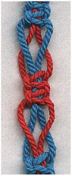 Pattern of loose square knots #handmade #jewelry #bracelet #friendship_bracelet #knotting #macrame
