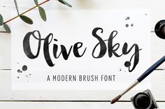 Modern brush font -