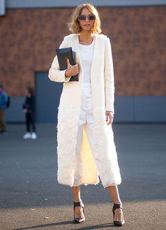 all white paris fashion week street style