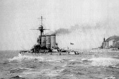 13.5 in battlecruiser HMS Tiger; date uncertain - ship to starboard is probably HMS Princess Royal, next ahead in the line after Jutland, but conceivably Battlecruiser Fleet flagship HMS Lion or (if the photo dates from before May 1916) HMS Queen Mary, which was sunk in the battle.