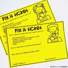 Fix-It Tickets: A Student Self-Reflection and Classroom Management Tool for Positive Behavior - Life Between Summers