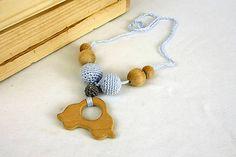 FIAhandmade / Kojo náhrdelník Crochet Toys, Baby Toys, Beaded Necklace, Handmade, Jewelry, Amigurumi, Beaded Collar, Hand Made, Jewlery