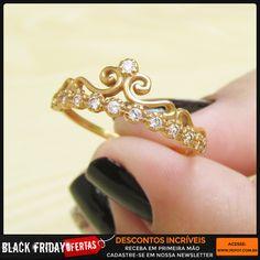 Anel tiara de princesa - Black friday chegando!  http://pepot.com.br/aneis.html