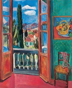 Hans Purrmann - Landscape by a window Art And Illustration, Illustrations, Paintings I Love, Beautiful Paintings, Tropical Artwork, Call Art, Classical Art, Photorealism, Art Design
