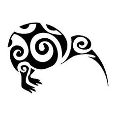 TATTOO TRIBES: Tattoo of Kiwi bird, Generosity tattoo,kiwibird newzealand waves koru tattoo - royaty-free tribal tattoos with meaning Koru Tattoo, Tattoo Bird, Tattoo Flowers, Thai Tattoo, Bird Outline, Tattoo Outline, Maori Designs, Foo Dog, Art Maori