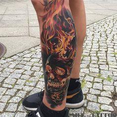 Flame Tattoos, Skull Tattoos, Body Art Tattoos, Sleeve Tattoos, Tatoos, Fire Tattoo, Arm Band Tattoo, Badass Tattoos, Cool Tattoos