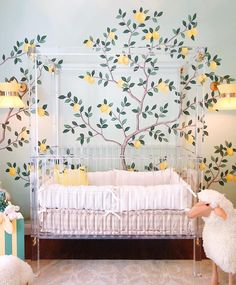 {saw the MOST beautiful nursery today at the designed by can you believe this custom lucite crib? It makes me want to design Marina's nursery all over again! See even more of this nursery and the in my stories! Baby Bedroom, Nursery Room, Girl Nursery, Kids Bedroom, Nursery Decor, Room Decor, Babies Nursery, Nursery Design, Interior And Exterior