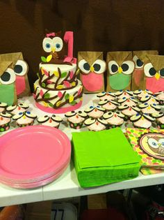 Look Whoo's ONE - fall owl birthday party