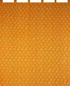 Hand Block Printed Curtain Panel-100% Cotton-44 x 63-Saffron by Full Moon Loom, http://www.amazon.com/dp/B00A5B93MK/ref=cm_sw_r_pi_dp_Js8ksb1NTZVCH