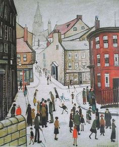 Laurence Stephen Lowry Berwick-upon-Tweed Salford, Berwick Upon Tweed, English Artists, British Artists, Spencer, Urban Life, Naive Art, Art For Art Sake, Sign Printing